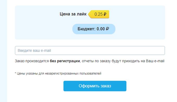 Указываем свой e-mail и оформляем заказ