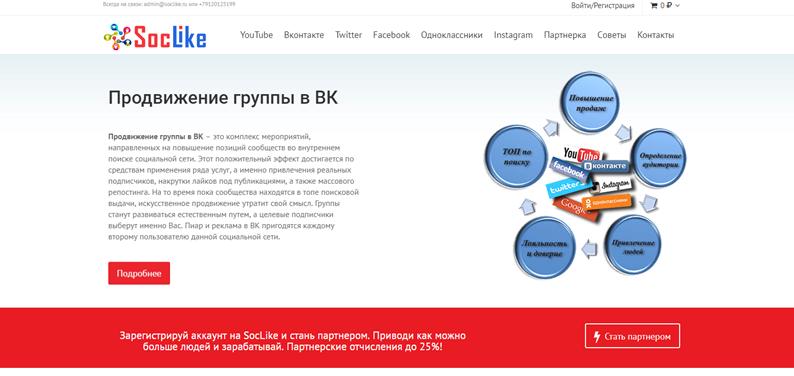 СоцЛайк - интересные лайки и решения для групп ВКонтакте
