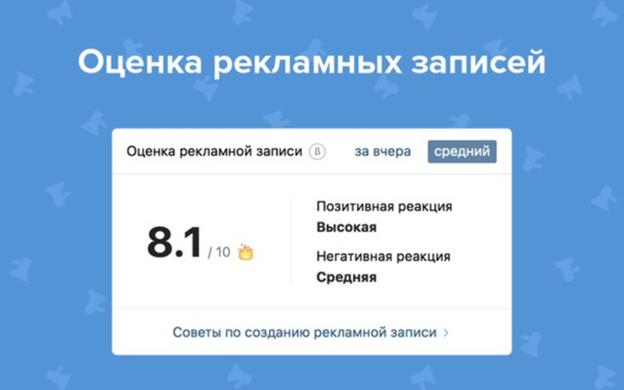 Оценка рекламных записей ВКонтакте и правила ее расчёта