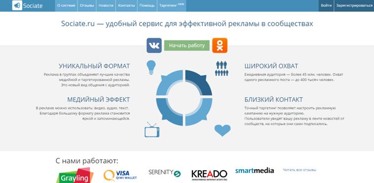 Сервис для рекламы групп ВКонтакте в сети