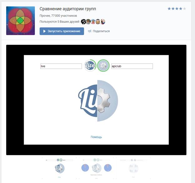 Программа сравнения аудитории групп ВКонтакте и принципы ее работы