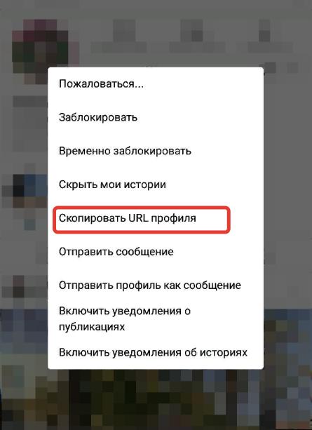 как скопировать ссылку на чужой инстаграм