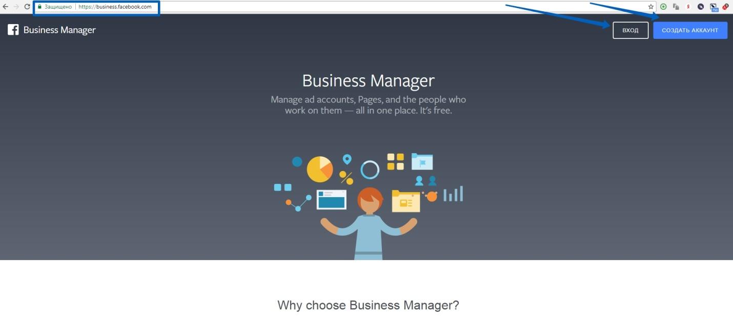 Регистрируем аккаунт в бизнес менеджере