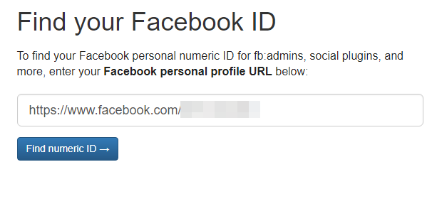 как узнать id страницы в фейсбуке онлайн
