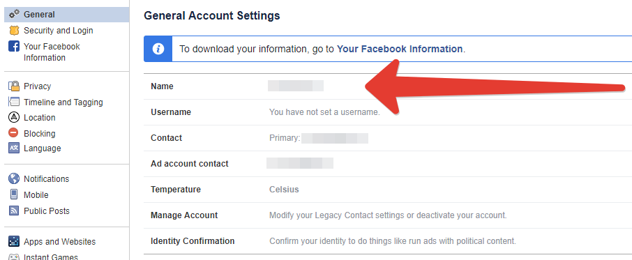 как изменить название страницы в фейсбук
