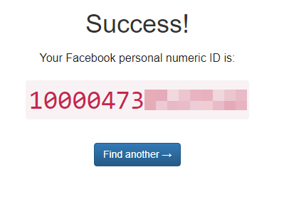 где посмотреть id аккаунта в facebook онлайн