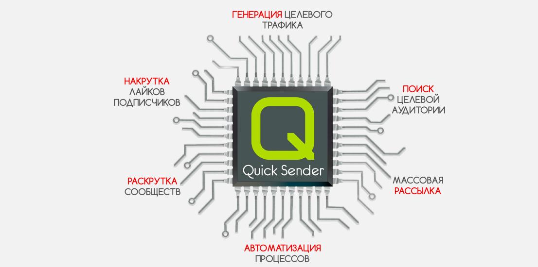 онлайн парсер Quick Sender для вконтакте