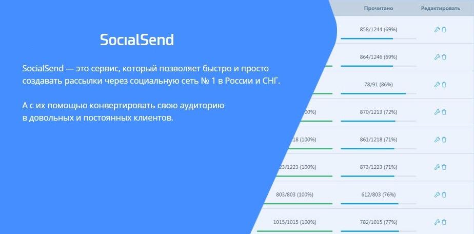 бот для вконтакте для спама SocialSend