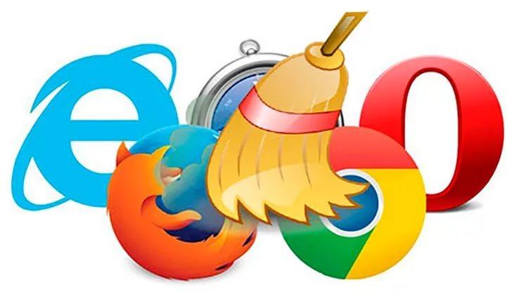 очистка кэша и куки браузера