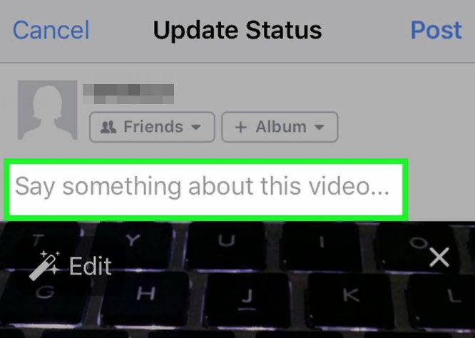 как добавить видео в фейсбук с комментарием