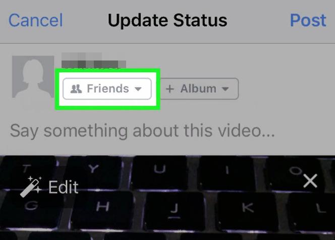 как закрыть видео для друзей в фейсбуке