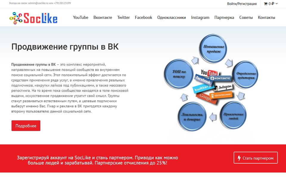 Продвижение группы в ВКонтакте возможно с СоцЛайк